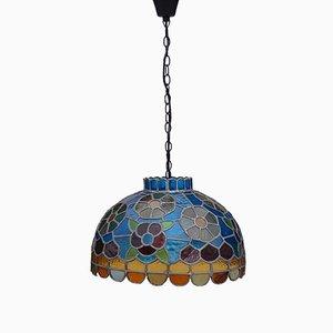Lampe à Suspension Faite Main en Verre Teinté, 1970s