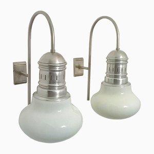 Italienische Wandlampen, 1960er, 2er Set