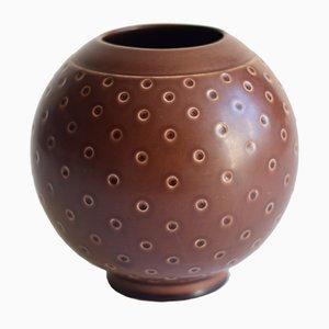 Braune Vase von Nils Thorsson für Royal Copenhagen, 1958