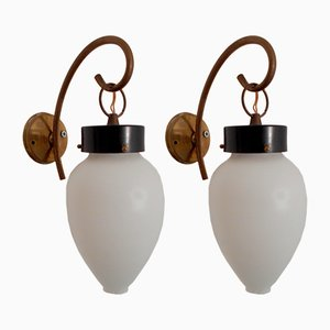 Mid-Century Wall Lamps from Stilnovo, 1950s, Set of 2