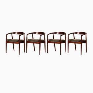 Mid-Century Teak Troja Armchairs by Kai Kristiansen for Magnus Olesen, Set of 4