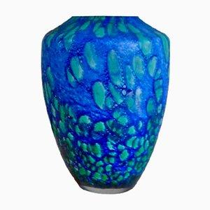 Vase Vintage en Pâte de Verre de Passavant La Rochère
