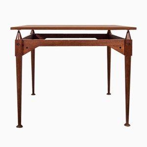 Table TL3 Carrée en Teck par Franco Albini pour Poggi, 1960s
