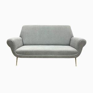 Graues Italienisches Mid-Century Sofa von Gigi Radice für Minotti