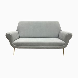Grey Italian Mid-Century Sofa by Gigi Radice for Minotti