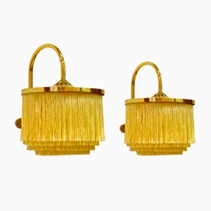Silk Fringe V271 Wall Lights by Hans-Agne Jacobsson, 1960s, Set of 2