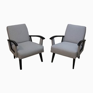 Mid-Century Sessel mit Armlehnen, 1960er, 2er Set