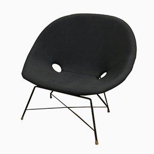 Fauteuil Cosmos Vintage Noir par Augusto Bozzi pour Saporiti, Italie
