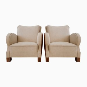 Art Deco Lounge Chairs, 1930s, Set of 2