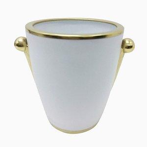 Jarrón de oro y porcelana de Gian Battista Vannozzi para Richard Ginori, años 80
