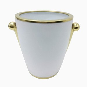 Porcelain and Gold Vase by Gian Battista Vannozzi for Richard Ginori, 1980s