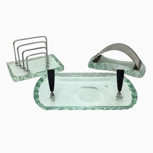 Mid-Century Italian Desk Accessories Set by Pietro Chiesa for Fontana Arte, 1950s