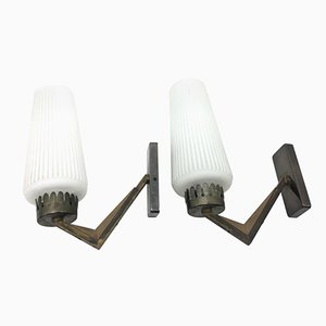 Mid-Century Italian Wall Sconces, 1950s, Set of 2
