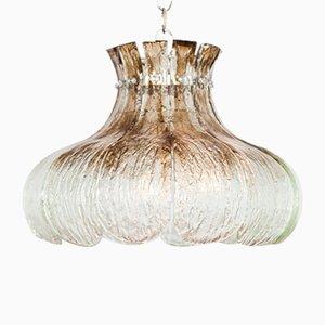 Lampada grande vintage a forma di fiore in vetro di Murano di Carlo Nason per Mazzega