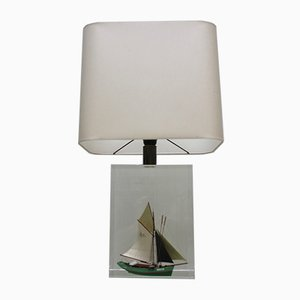 Vintage Table Lamp in Lucite