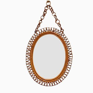 Italian Oval-Shaped Wall Mirror, 1960s