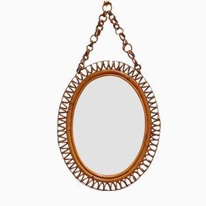 Italian Oval-Shaped Wall Mirror, 1960s