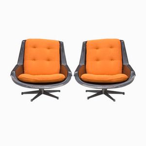 Swivel Armchairs by Paul Tuttle for Strässle, 1970s, Set of 2
