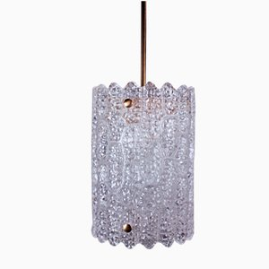 Swedish Modern Crystal Cylinder Pendant by Carl Fagerlund for Orrefors, 1960s