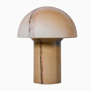 Large Cirrus Glass Mushroom Table Lamp from Peill & Putzler, 1960s