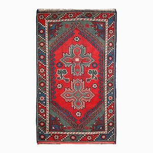Alfombra anatolia turca antigua hecha a mano, años 20