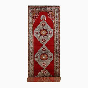 Vintage Handmade Turkish Oushak Runner, 1940s