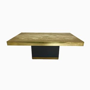 Brass Coffee Table by Ricco D., 1970s