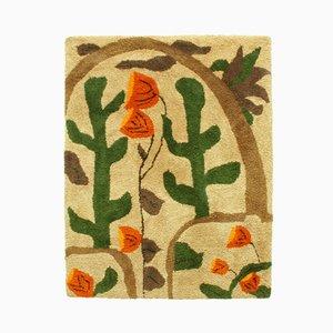 Großer Bunter Wandteppich mit Kaktus- & Blumenlandschaft, 1960er
