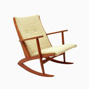 Rocking Chair 97 en Teck Massif par Søren Georg Jensen pour Tønder Møbelværk, Danemark, 1958