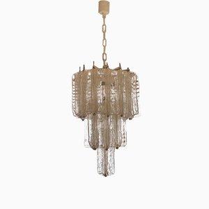 Lámpara de araña italiana de Toni Zuccheri para Venini, años 70