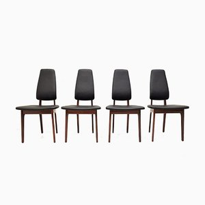 Rosewood Dining Chairs by Helge Vestergaard Jensen for O.D. Møbler, 1960s, Set of 4