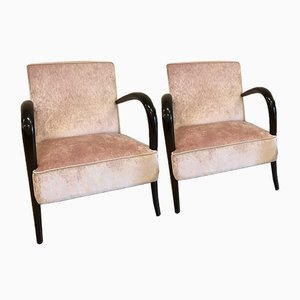 Art Deco Italian Rosewood Armchairs, 1930s, Set of 2