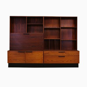 Rosewood Wall Unit by Ib Kofod-Larsen for Faarup Møbelfabrik, 1960s