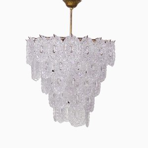 Large Glass Chandelier from Mazzega, 1970s