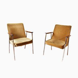 Vintage Velvet Armchairs, 1970s, Set of 2