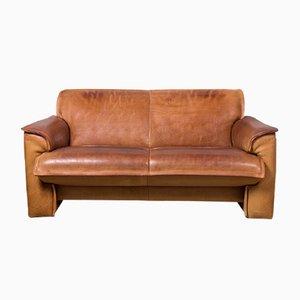Sofá de 2.5 asientos de cuero de Leolux, años 70