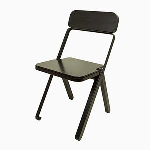 Profile Folding Chair in Black by Knauf and Brown for Souda