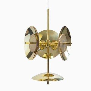 Lámpara de araña Signal 3S+1 de latón de Shaun Kasperbauer para Souda