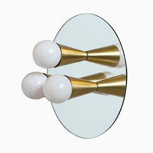 Echo 3 Messing Wandlampe aus Shaun Kasperbauer für Souda