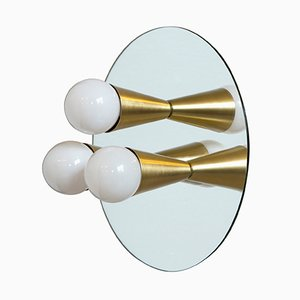 Echo 3 Sconce in Brass by Shaun Kasperbauer for Souda