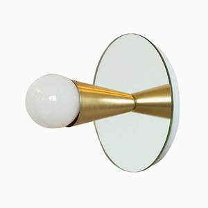 Echo 1 Sconce in Brass by Shaun Kasperbauer for Souda