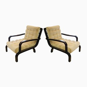 Italian Lounge Chairs, 1940s, Set of 2