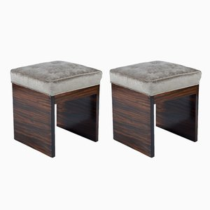 Italian Art Deco Stools, 1930s, Set of 2