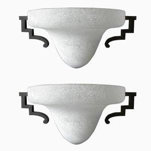Luces de pared italianas de Patrini para Seguso, años 60. Juego de 2