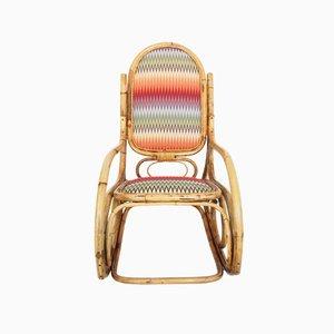 Rocking Chair Mid-Century en Rotin