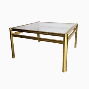 Tavolino da caffè placcato in oro, anni '80