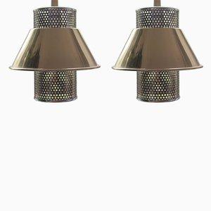 Lampes à Suspension T766 Vintage en Laiton par Hans-Agne Jakobsson, Set de 2