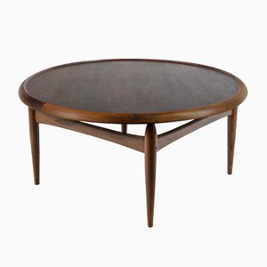 Mid-Century Rosewood Coffee Table by Ejvind A. Johansson for Ludvig Pontoppidan