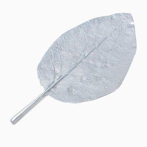 Vintage Large Brutalist Cast Iron Sheet Leaf Dish