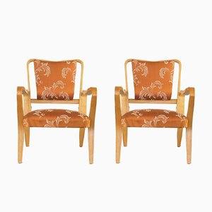 Plywood Linden Armchairs by G.A. Jenkins for Thonet, 1940s, Set of 2